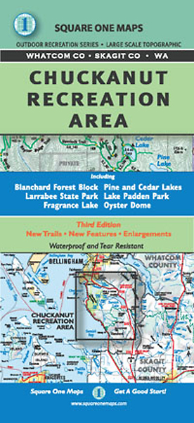 Chuckanut Recreation Area Map by Square One Maps, Bellingham WA