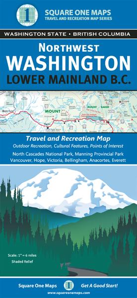 Northwest Washington, Lower Mainland B.C., Square One Maps